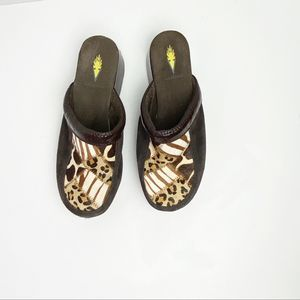 Animal Print Clogs by Volatile